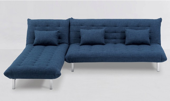 Sofa Modulo mit Longchair Blau – Bild 3