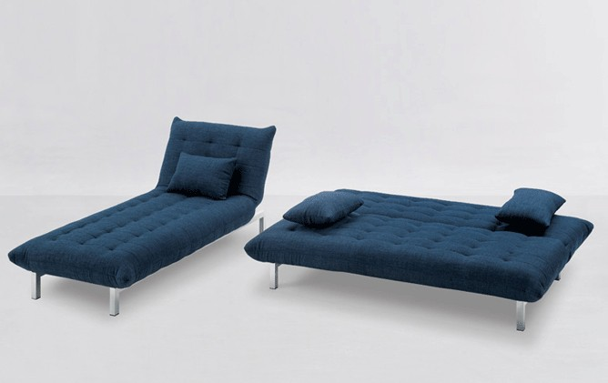 Sofa Modulo mit Longchair Blau – Bild 8