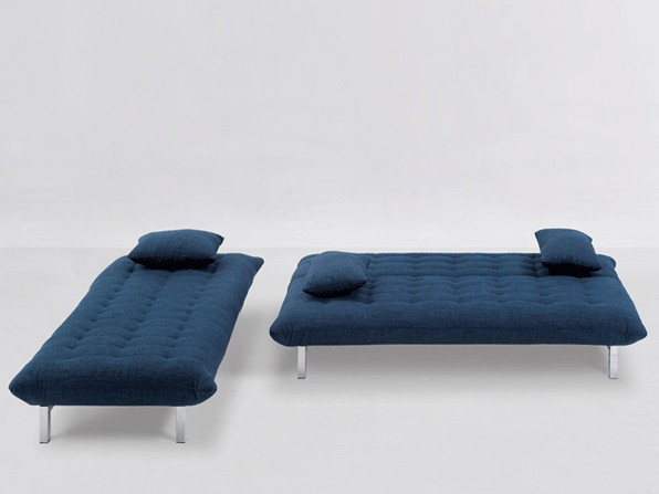 Sofa Modulo mit Longchair Blau – Bild 11