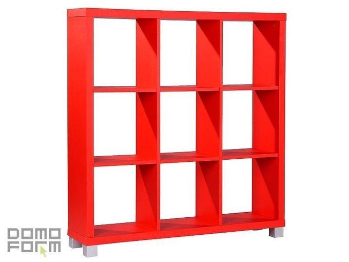 Restposten: Raumteiler cubetto 3x3 in Rot – Bild 1