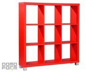 Restposten: Raumteiler cubetto 3x3 in Rot
