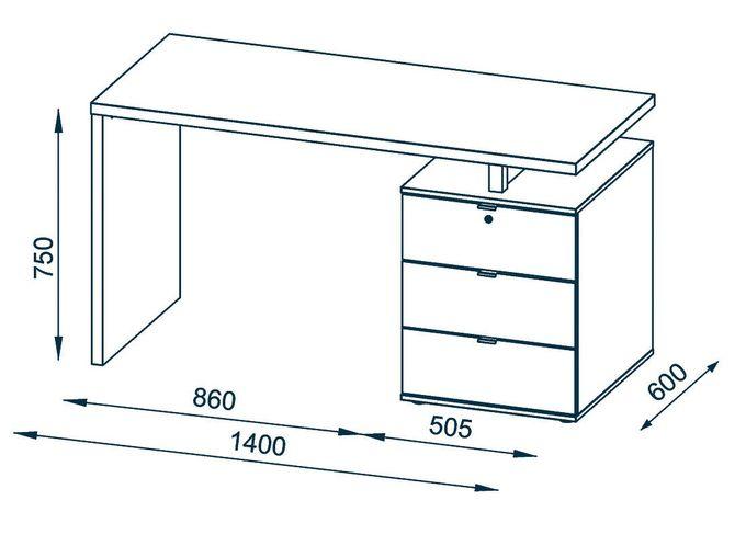 Designer Schreibtisch Kiruna – Bild 3