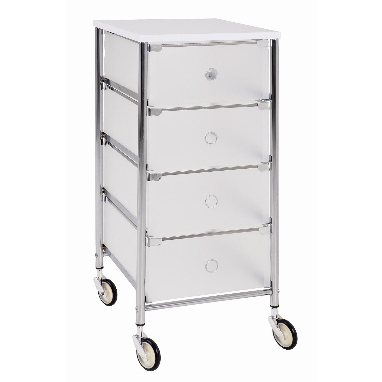 Rollwagen chrom-weiß 45070 Milky Bad Regale&Rollwagen