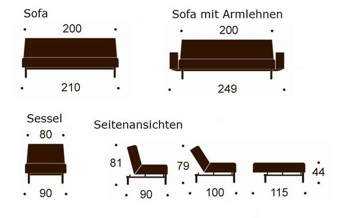 Schlafsofa und Sessel Ample – Bild 3