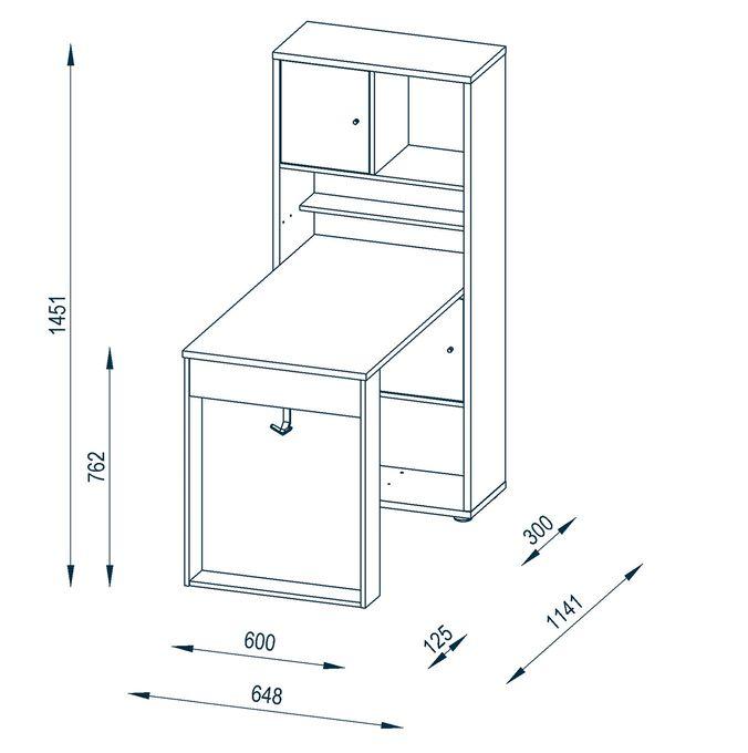 Minioffice Kompaktbüro Home-1 – Bild 4