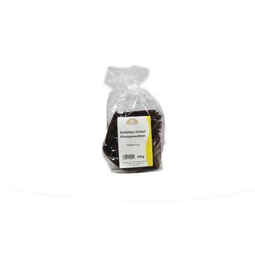 Dinkel-Knusperwaffeln Zartbitter-Pfefferminz, 200 g