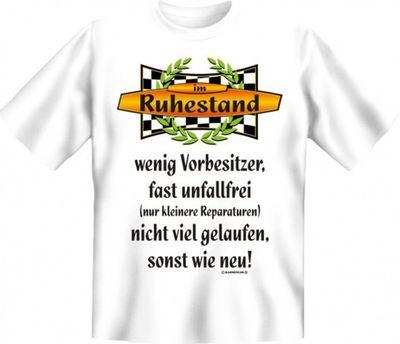 Witziges T-Shirt - Ruhestand wenig Vorbesitzer - Lustiges Geschenk mit Humor Bild 2