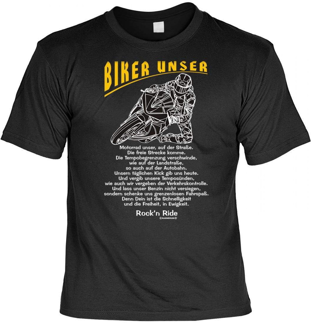 lustiges t shirt f r motorrad fahrer biker unser biker. Black Bedroom Furniture Sets. Home Design Ideas