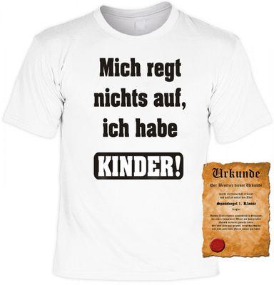 """T-Shirt für den Vater / Opa - Mich regt nichts auf, ich habe Kinder - Geschenk Vatertag - Inkl. Urkunde """"Bester Vater der Welt"""" Bild 2"""