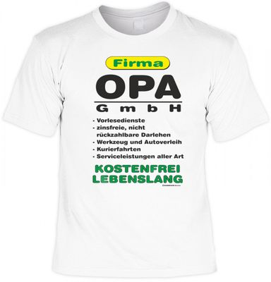 t shirt f r den vater opa firma opa gmbh witziges. Black Bedroom Furniture Sets. Home Design Ideas