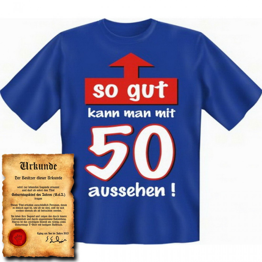 witziges t shirt 50 geburtstag so gut kann man mit 50. Black Bedroom Furniture Sets. Home Design Ideas