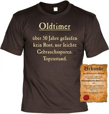 Lustiges T-Shirt zum 50. Geburtstag - Oldtimer ! Kein Rost, Top Zustand ! - Funshirt als coole Geschenk Idee, jetzt mit Urkunde ! Bild 2