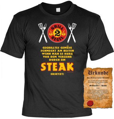 Grill Regel Nr.: 2! - - T-Shirt zum Grillen - - passendes Geschenk für den Grillchef Bild 2
