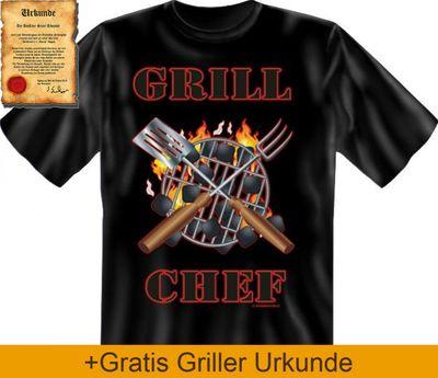 Grill Chef! - - T-Shirt zum Grillen - - passendes Geschenk für den Grillchef Bild 3