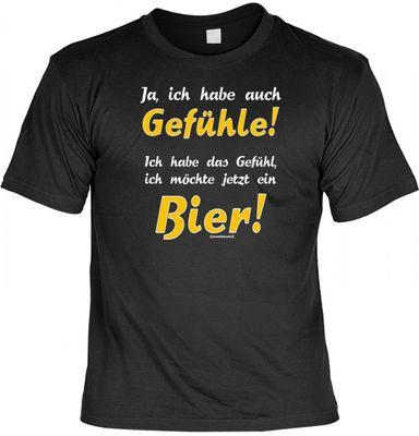 Lustiges Fun T-Shirt: Ich habe das Gefühl, ich möchte jetzt ein Bier ! - Geschenk mit Urkunde Spassvogel