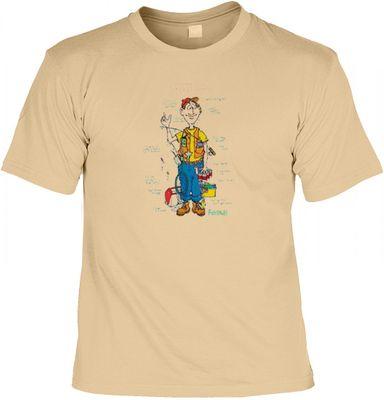 T-Shirt - Der Super Angler - Lustiges Shirt mit Motiv für Fischer - Auch als Geschenk sehr beliebt - sand