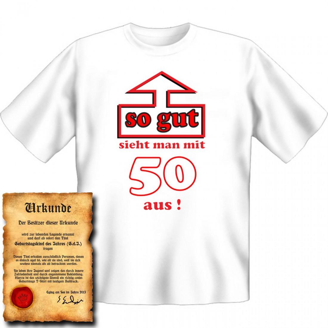 Lustige spruche 50 geburtstag t shirt