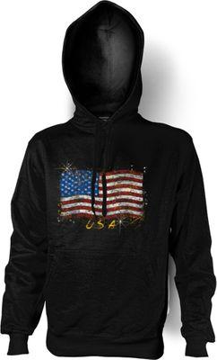 Kapuzensweatshirt Hoodie Pullover - Amerikanische Flagge Stars and Stripes - USA Amerika Bild 2