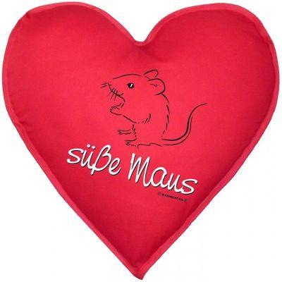 Kissen Herz - Süße Maus - Sofakissen mit Füllung - Geschenk für die Liebste