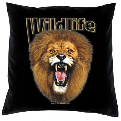 Kissen Sofakissen komplett: - Wildlife - Löwe - Top Geschenk für Naturfreunde Bild 2