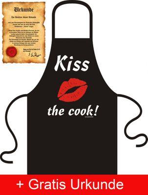 Kochschürze Schurz - Kiss the Cook - Lustiger Kittel, Geschenk super Bild 4