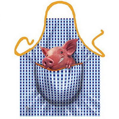 Witzige Schürze Kochschürze - Lustiges Schweinchen - Scherzartikel - Urkunde Bild 2
