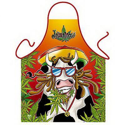 Lustige Schürze - Jamaicow - Lustige Jamaika Kuh Rasta Look - Karneval - Urkunde