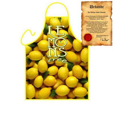 Schürze - Lemons - Zitronen Kochschürze - mit Urkunde Bild 4