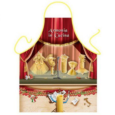 Schürze - Harmonie - Witzige Kochschürze mit Nudeln Geschenk - mit Urkunde