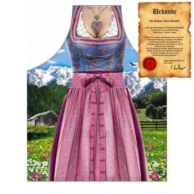 Schürze - Dirndl - Verkleidung Bayerin in Tracht - mit Urkunde Bild 4