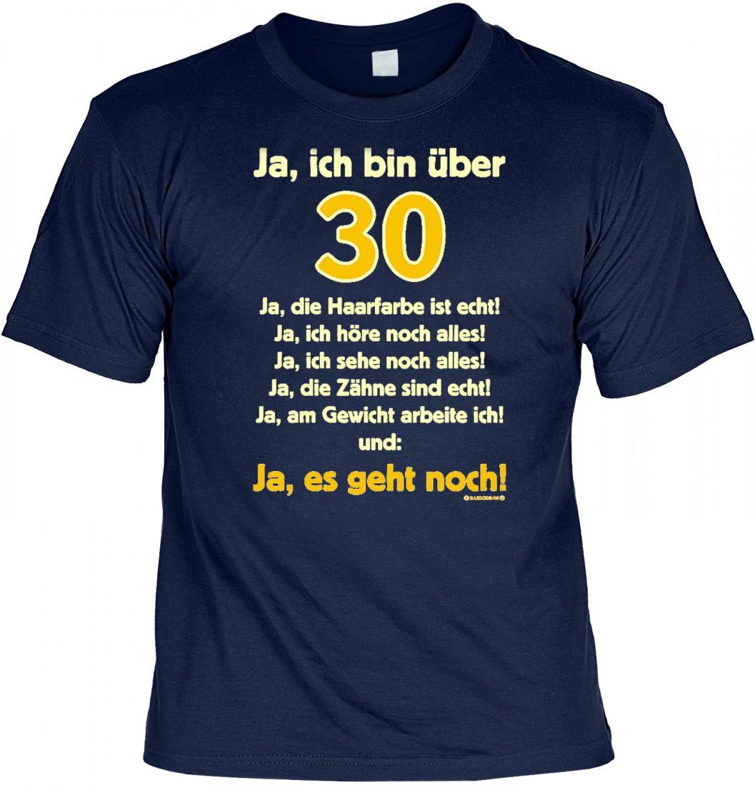 Details Zu T Shirt Ja Ich Bin über 30 Lustiges Sprüche Shirt Geschenk 30 Geburtstag