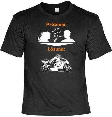 Lustiges T-Shirt - Motorrad - Alternative zur geschwätzigen Frau - Funshirt mit Spruch als Geschenk für Biker - Jetzt mit lustiger Urkunde !