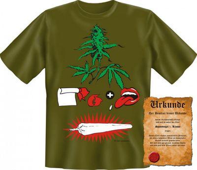 Lustiges T-Shirt - Wie man einen Joint dreht - Funshirt mit Spruch als Geschenk für Kiffer - Jetzt mit lustiger Urkunde ! Bild 4
