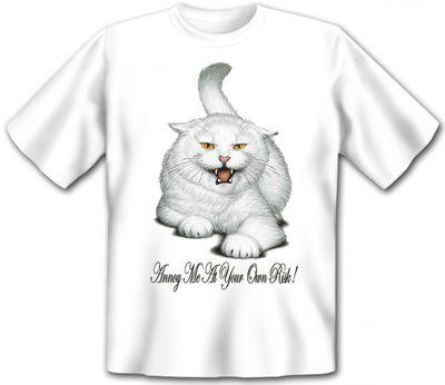 T-Shirt - Katze - Annoy me at your own risk - auch als Geschenk für Katzen Fans mit Humor Bild 2