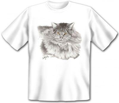 T-Shirt - Langhaarige Perser Katze - auch als Geschenk für Katzen Fans mit Humor Bild 2