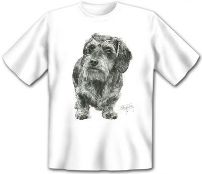 T-Shirt - Rauhaar Dackel - auch als cooles Geschenk für Hunde Fans Bild 2