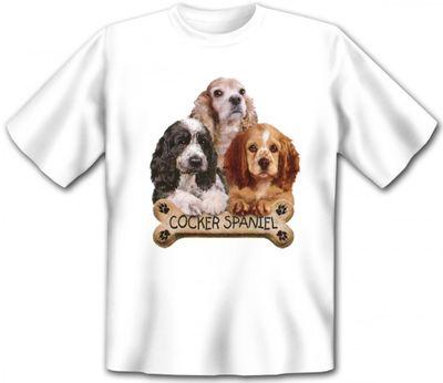 T-Shirt - Cocker Spaniel - drei süsse Hunde - auch als cooles Geschenk für Hunde Fans Bild 2