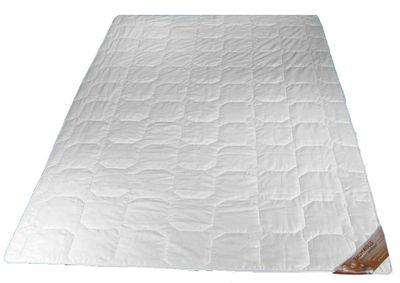 Sommer Steppbett 155 x 200 cm - Füllung reine Baumwolle (450 g) - Waldenburger Bettdecke extra leicht - Kochfest - Trocknergeeignet 001