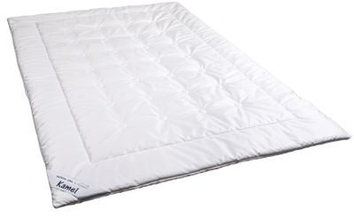 Winter Duo Steppbett 155 x 220 - 100% feinstes Kamelhaar (1800g) - Warme Waldenburger Bettdecke mit Feinsatin Bezug 001