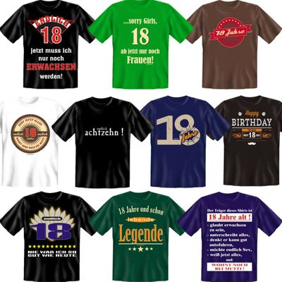 witziges t shirt happy birthday to you 18 jahre 18. Black Bedroom Furniture Sets. Home Design Ideas