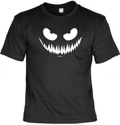 Hallowen T-Shirt mit bösem Grins-Gesicht - Kostüm Verkleidung Halloween-Party