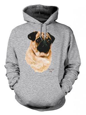 Hoodie mit Mops Hund Motiv - Black & Tan - Bedruckter Kapuzensweater für Hundefreunde