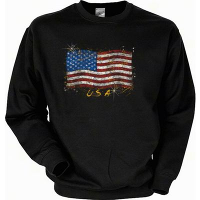 Sweatshirt - Amerikanische Flagge Stars and Stripes - USA Sweater Amerika Bild 2