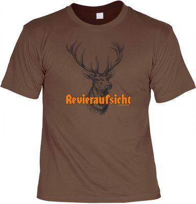 Witziges T-Shirt - Revieraufsicht - lustiges Funshirt für Jäger und Förster