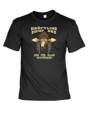 T-Shirt für den Vater - Häuptling Chief Dad - Witziges Geschenk zum Vatertag Geburtstag Weihnachten