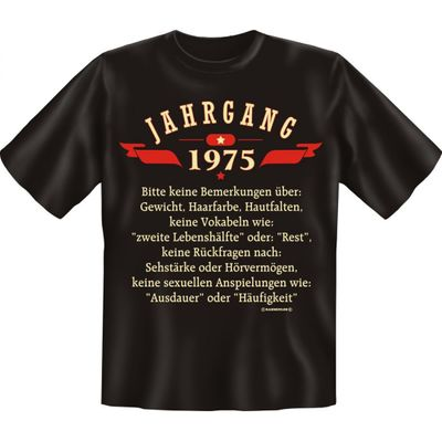 Rahmenlos T-Shirt Minishirt Geschenk-Set Jahrgang 1975 Bild 5