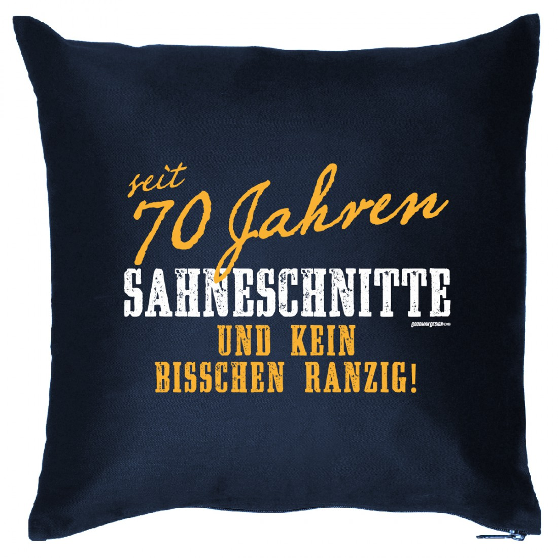 Kissen Sofakissen Geschenk 70 Geburtstag Sahneschnitte 70 Humor
