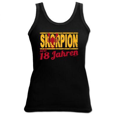 Damen Top als Geschenk zum 18. Geburtstag - Skorpion 18 Jahre - Originelles Geburtstagsgeschenk mit sexy Look
