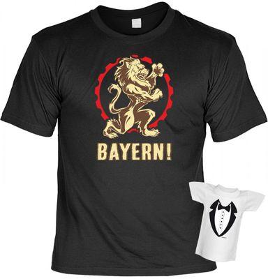 Rahmenlos Unisex T-Shirt Minishirt Geschenk-Set Bayern Löwe