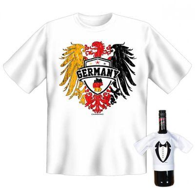 Rahmenlos Unisex T-Shirt Minishirt Geschenk-Set Germany Bild 4